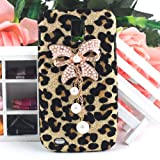 Bling Diamond Gold Bow Leopard Hard Case Cover For Samsung Galaxy S2 II T989 T-Mobile Phone