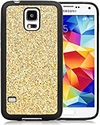 Galaxy S5 Case, iSee Case (TM) Bling Bling Glitter Glam Sparkle TPU Full Cover Protective Case for New Samsung...