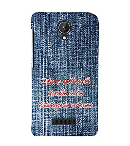 Vizagbeats Telugu Quote on Jean Back Case Cover for Micromax Canvas Spark q380