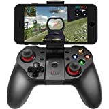 Smartphone Game Controller Compatible with iPhone,Wireless Gamepad fit iOS Android Phone iPad Tablet Devices Windows PC (Black) (Color: Black)
