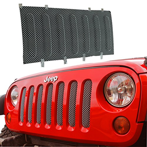 E-Autogrilles 07-15 Jeep Wrangler 1PC Stainless Wire Mesh Grille