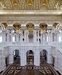 Library of Congress Jefferson Building Great Hall Photograph - Beautiful 16x20-inch Photographic Print by Carol M. Highsmith