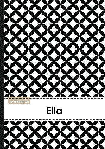 Le carnet d'Ella - Lignes, 96p, A5 - Ronds Noir et Blanc (Adulte)