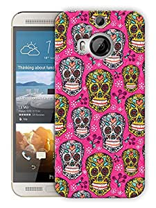 "Humor Gang Pinks Skulls Printed Designer Mobile Back Cover For ""HTC ONE M9 PLUS"" (3D, Matte, Premium Quality Snap On Case)"