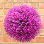 ARTIFICIAL HOT PINK HEATHER BALL 30CM
