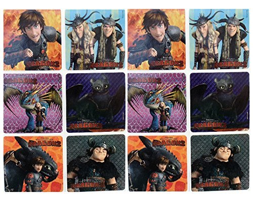 "HOW TO TRAIN YOUR DRAGON 2- How to Train Your Dragon 2 Birthday Party Favor Sticker Set Consisting of 45 Stickers Featuring 6 Different Designs Measuring 2.5"" Per Sticker, Features Hiccup, Stormfly, Toothless, Snotlout, Ruffnut, Tuffnut and Astrid - 1"
