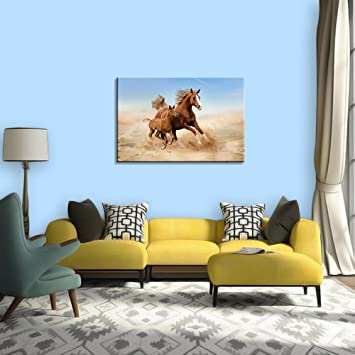 Buy Wall Decals HD Quality Running Horse For Vastu Wall Posters - Wall decals hd