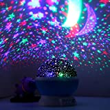 [Newest Generation] LED Night Lighting Lamp -Elecstars Light Up Your Bedroom With This Moon, Star,Sky Romantic LED Nightlight Projector, - Best Gift for Men Women Teens Kids Children Sleeping Aid