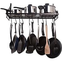 Zesproka Kitchen Wall Pot Pan Rack With 10 Hooks