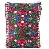 Mela Embroidered Passport Sling Bag for Women