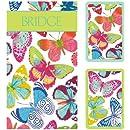 Entertaining with Caspari Bridge Gift Set with Jumbo Typeface, Butterflies