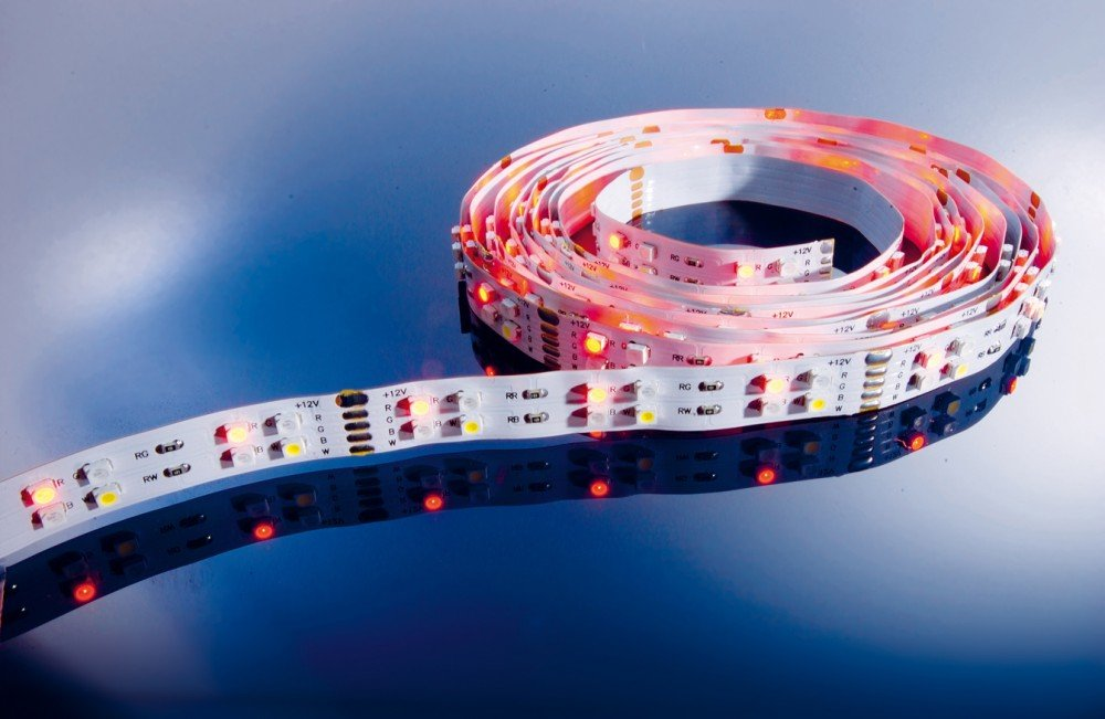 KapegoLED Flexibler LED Stripe, 3528, SMD, RGB und, 12 V DC, 57,50 W, kaltweiß 840102