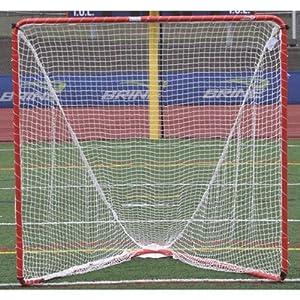 Brine High School Lacrosse Goal, Net Not Included (6 x 6 x 7-Feet, Orange) by Brine