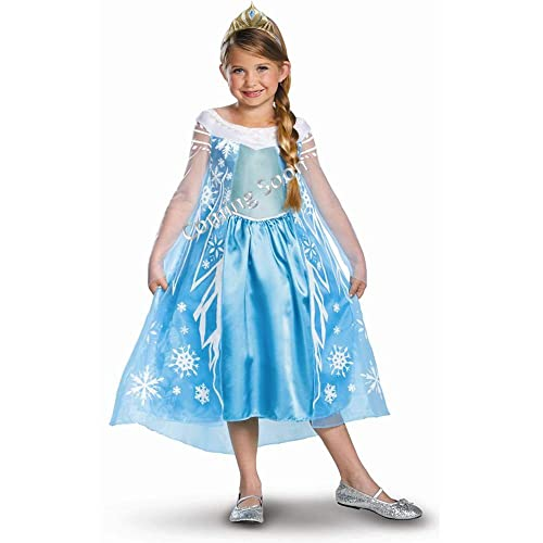 Disguise Disneys Frozen Elsa Deluxe Girls Costume 7-8