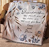 Collections Etc - Grandmother Holiday Tribute Throw Blanket
