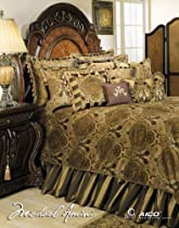 Big Sale Michael Amini Pontevedra 12 pc Queen Comforter Set in Olive by AICO