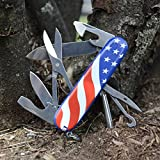 Victorinox Swiss Army Super Tinker Pocket Knife, American Flag,91mm