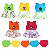 #6: Vinab Cotton Frock Set For Baby Girls -12 To 18 Months (Pack Of 5)