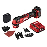 SKIL PWR CORE 12 Brushless 12V Oscillating Tool Kit with 40pcs Accessories, Includes 2.0Ah Lithium Battery and PWRJump Charger - OS592702