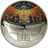 Wonderful Mosaics - San Juan de Letrán $5 Moneda Plata - Islas Cook 2014