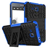 Maomi Samsung Galaxy Tab A 7.0 Case 2016 Release (SM-T280/T285),[Kickstand Feature],Shock-Absorption/High Impact Resistant Heavy Duty Armor Defender Case for Samsung Tab A 7 Inch Tablet (Blue) (Color: Blue)