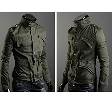 Amoin Men Casual Fashion Zipper Slim Fit Hoodies Jackets Coats FINEJO Fashion Men s Military