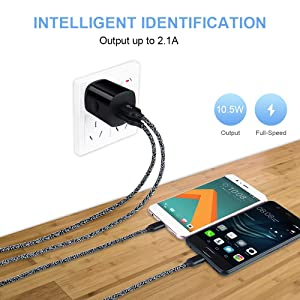 USB C Wall Charger Fast Charge, USB Charging Plug Charger Brick with Type C Cable Cell Phone C Charger Cord Compatible with Samsung Galaxy S10,S9,S8,A80,A70,OnePlus 7 Pro,7,6T,6,5T,Google Pixel 3a (Color: 4 pack,black)