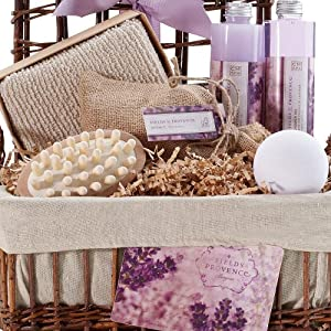 Lavender Relaxation Bath & Body Spa Basket