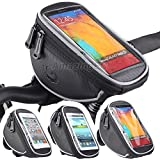 Roswheel Cycling Bike Handlebar Bags Quick Release Bicycle Front Top Frame Pouch for Touch Screen Phone - 4.2/4.8/5.5 inch Multi Size