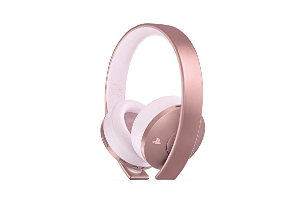 PlayStation Gold Wireless Headset Rose Gold - PlayStation 4 (Color: Rose Gold)