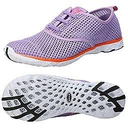 Zhuanglin Women\'s Mesh Slip On Water Shoes Size 6.5 B(M) US Purple