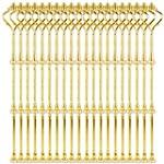 20 Set Gold Metallstange Mittellochau...