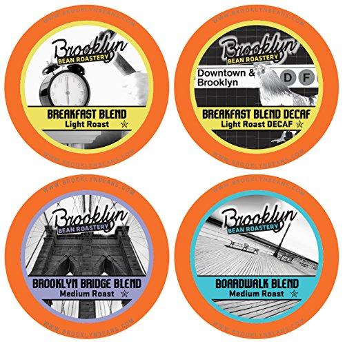 Brooklyn Beans Breakfast Variety Pack Single-Cup Coffee for Keurig K-Cup Brewers, 40 Count