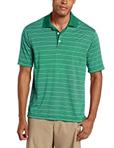 adidas Golf Men's Climalite Two-Color Stripe Jersey Polo, Celtic/White, Small