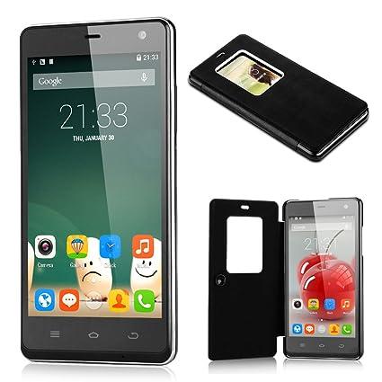 Smartphone THL 5000 Grande 5,0 Pouces FHD Ecran 2Go RAM+16Go ROM Octa Core MTK6592T 2,0GHz Google Android 4.4 KitKat Dual SIM WIFI GPS FM 3G Bluetooth OTG -résolution 1920*1080 mégapixel-Noir-pour opérateur français/belgique/m&