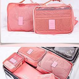 XDOBO® Nylon Home or Travel Rusable Bag , Portable Travel Storage bag, set of 6 pcs.