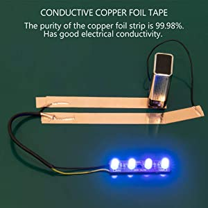 Copper Foil Tape with Conductive Adhesive, for EMI Shielding, Guitar, Soldering, Electrical Repairs, Paper Circuits, Crafts, Grounding (Color: Copper, Tamaño: 2.4 in (W) x 11 yd (L))