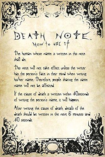 Death Note Poster Rules + articolo aggiuntivo