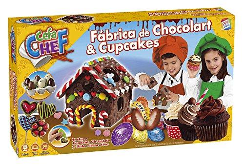 Cefa Chef - Fábrica de Chocolart y Cupcakes, juego para cocinar (Cefa Toys 21749)