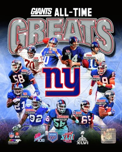 New York Giants All Time Greats NFL Team Composite Photo 8x10 at Amazon.com