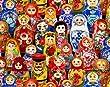 Fat Quarter Odessa Russian Dolls Cotton Quilting Fabric - Elizabeth's Studio