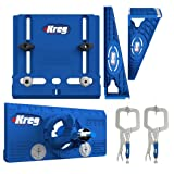 Kreg Tool Company - Drawer Slide Jig with Cabinet Hardware Jig with Concealed Hinge Jig and Two 2