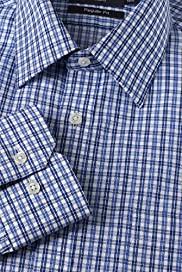Sartorial Dri-Guard&#8482; Pure Cotton Double Checked Shirt