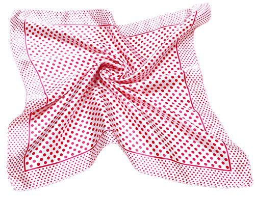 "DGFA INC 19.5"" Ladies Neckerchief Silk Like Square Scarf Gift Idea"