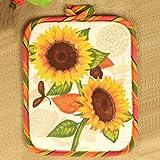 Christmas Tree Sunflower Cup Table Mat Pot Heat Pad