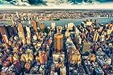 Fotomural horizonte - Mural anochecer sobre Manhatten - Decoraci�n mural XXL Nueva York - GREAT ART