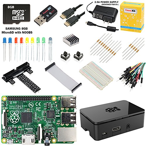 Canakit Raspberry Pi B+ Ultimate Starter Kit (Over 40 Components: Raspberry Pi B Plus + Wifi Dongle + 8Gb Sd Card + Case + Power Supply And Many More)