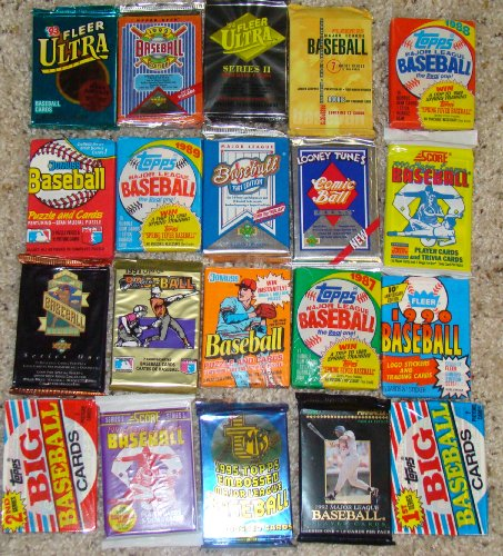 25 Original Unopened Packs of Vintage Baseball Cards (1980s-1990s)