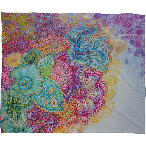 Deny Designs Stephanie Corfee Flourish Fleece Throw Blanket, 60-Inch By 50-Inch front-4847