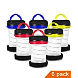 JEFAL 6 Pack Portable Camping Lantern with LED Flashlights 2 in 1, 3-Lighting-Modes Survival Tool for Hiking, Camping, Emergency, Hurricane, Power Outage - Collapsible Mini Size - Battery Powered (Color: Red)